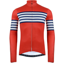 Bycicle maillot ciclismo MTB mens winter thermal fleece cycling jerseys pro team Cycling Jersey RED long slveeve ropa