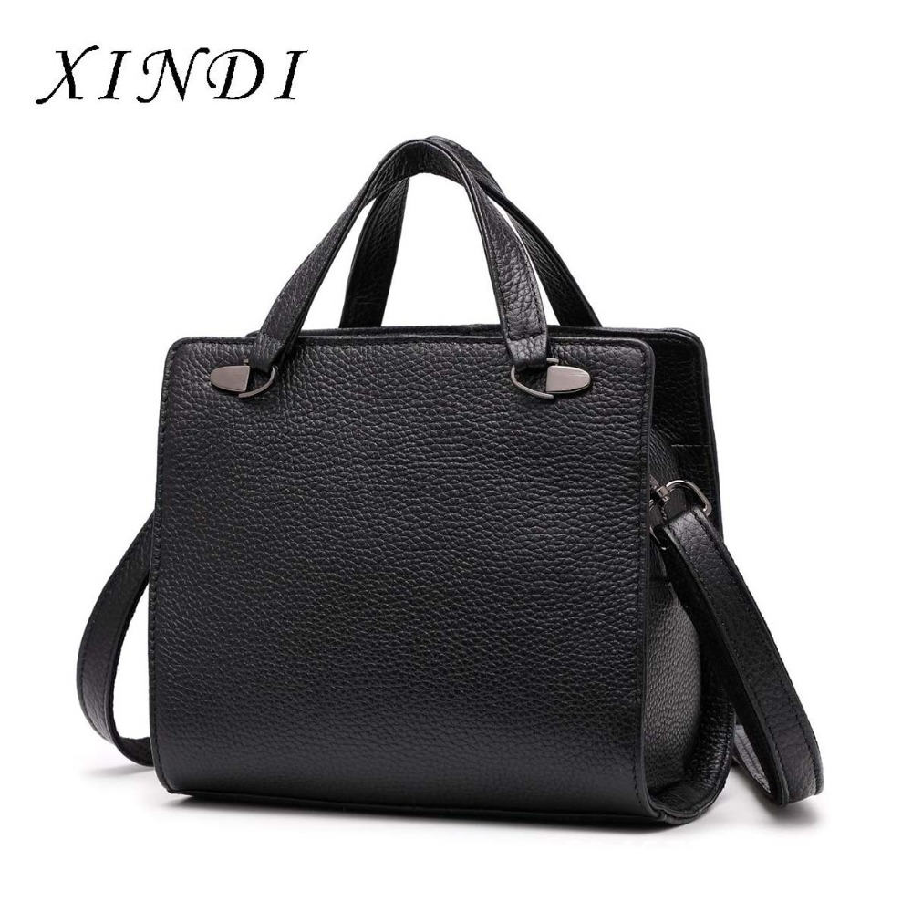 XINDI Genuine Leather Bag brand Women Handbags Bags For Women High Quality Shoulder Crossbody Bag design Workplace charm Totes french workplace design