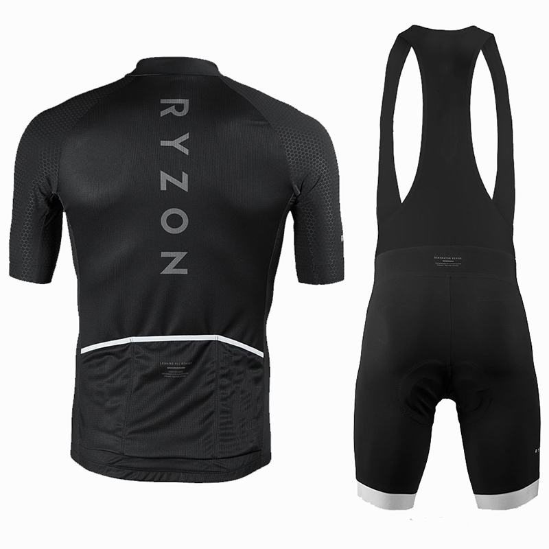d55e2143a Ryzon Cycling Jersey Set For Men Short Sleeve Quick Dry MTB Bike Road  Riding Clothing Wear Sleeves With Italy Silicone Non slip -in Cycling Sets  from Sports ...