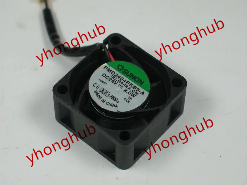 SUNON PMD2404PKB3-A, (2).B4422.GN DC 24V 2.0W 40x40x20mm Server Square fan free shipping for sunon psd1206pwb1 a 2 b2443 f gn dc 12v 2 5a 8 wire 12 pin 100mm 60x60x60mm server square cooling fan