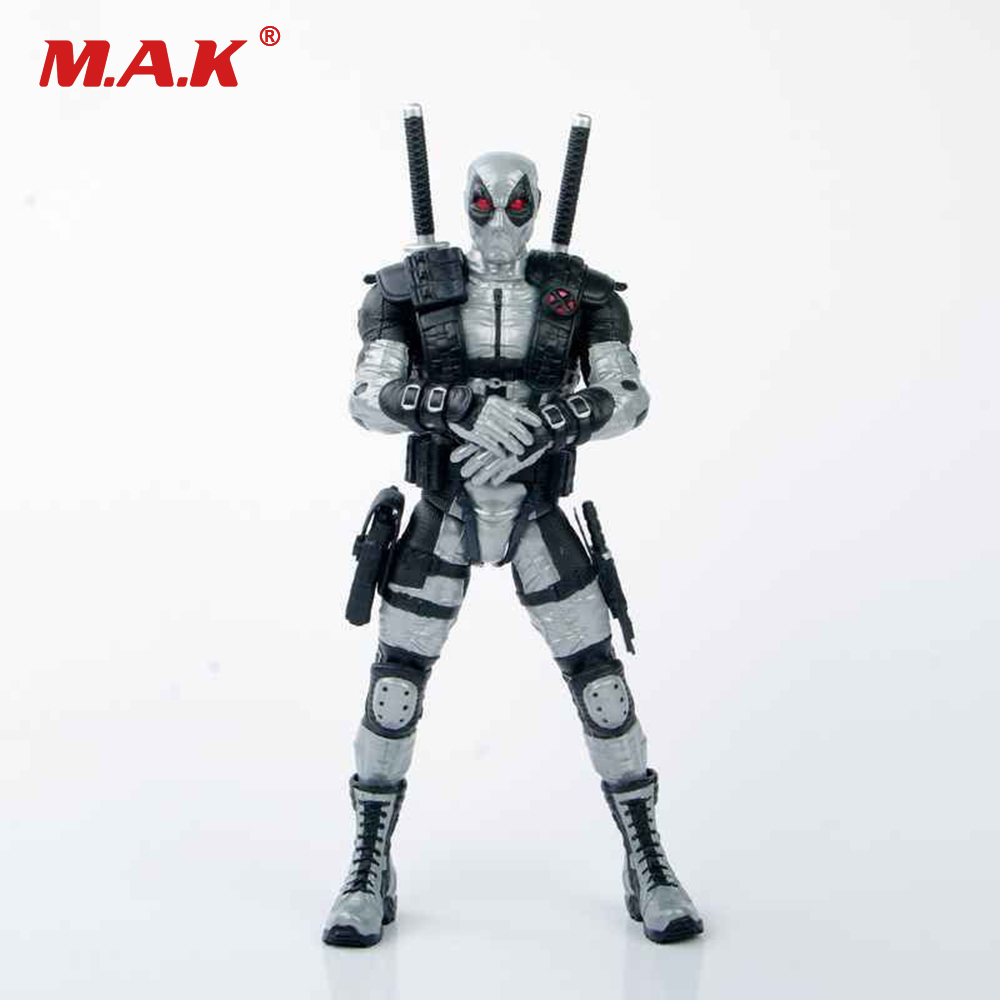 Gray Deadpool Action Figure Model With Movable Joint Collectble Figure Toys Gift With Box for Children Kids street fighter v chun li bigboystoys with light action figure game toys pvc action figure collection model toys kids for gift