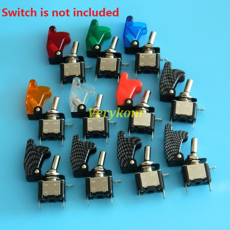 US $18 0 |50pcs a lot Clear White Color Toggle Switch Safety Guard Flip  Cover Aircraft Cover For M12 Switches ASW 07D-in Switches from Lights &