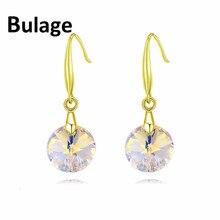 Trendy Drop Round Earrings  Fashion Original Crystal From SWAROVSKI Elements Rhinestone Pendant Pendientes 2017 Christmas Gifts