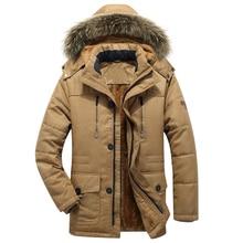 Dikke Warme Parka Mannen Nieuwe Hot Lange Winterjas Mannen Hooded Militaire Cargo Heren Winter Jas Plus Size M 5XL