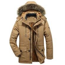 Grosso quente parka men novo quente longo inverno jaqueta com capuz militar carga dos homens casaco de inverno plus size M 5XL