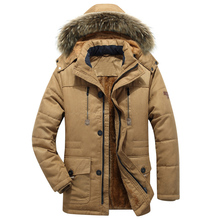 두꺼운 따뜻한 파카 남자 새로운 뜨거운 긴 겨울 자 켓 남자 두건 된 군사 카고 망 겨울 코트 플러스 크기 M 5XL