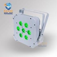 Rasha Quad 7pcs 10W 4in1 RGBW RGBA Non Wireless LED Flat Par Profile LED Flat Slim