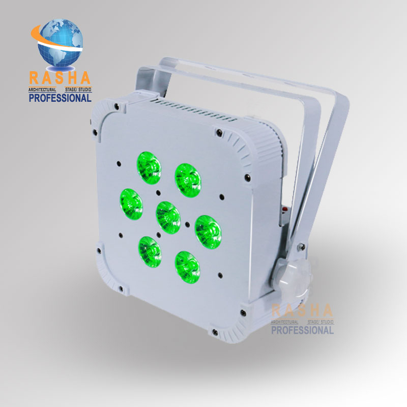 Rasha Quad 7pcs*10W 4in1 RGBW/RGBA Non- Wireless LED Flat Par Profile,LED Flat Slim Par Can,Disco DMX512 Stage Light 2x lot rasha quad 7pcs 10w rgba rgbw 4in1 dmx512 led flat par light wireless led par can for disco stage party