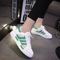 2016 New Spring PU Leather Outdoor Lace-Up Women Shoes for adults Breathable Light Soft Flats Women Casual Shoes
