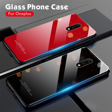 For Oneplus 7 Pro Case oneplus7 Cases For Oneplus 7 Pro Funda Slim Glass Anti Knock Hard Back Cover For One plus 7Pro Coque Capa