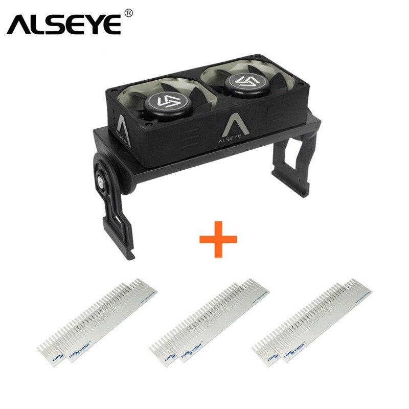Bilgisayar ve Ofis'ten Fanlar ve Soğutma'de ALSEYE Bilgisayar Bellek Soğutma Fanı RAM Soğutucu Alüminyum Soğutucu ve Çift PWM 60mm Fanlar Radyatör 4000 RPM DDR12345 title=