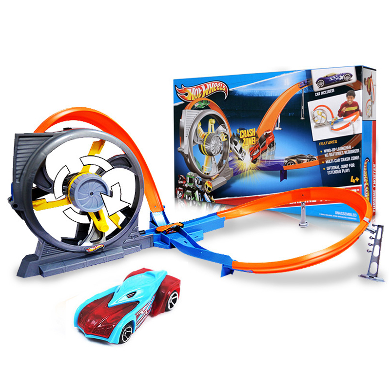 Manually Hot Wheels Cyclotron Stereo Track Hotwheels Collection Miniatures Car Model Classic Antique For Boys Kid Toy hotwheels carros track model cars train kids plastic metal toy cars hot wheels hot toys for children juguetes gift for kids