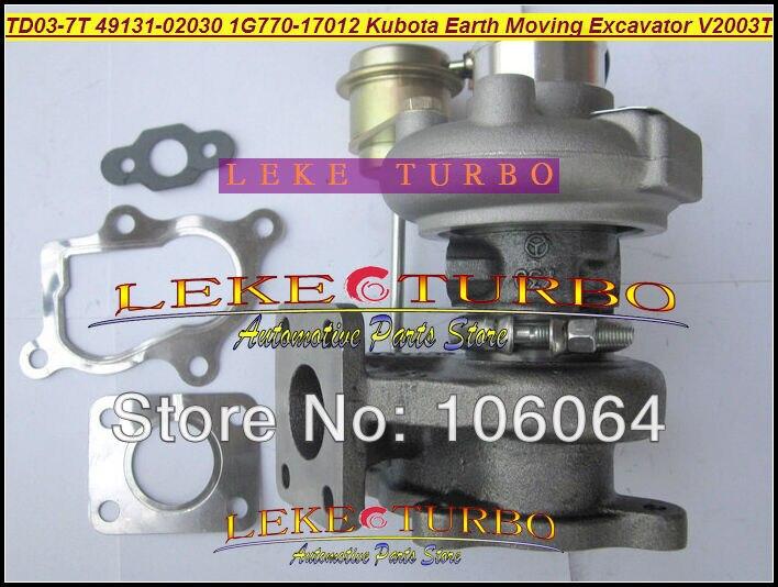 TD03 07G 49131-02000 49131 02000 16483-17012 Turbo Turbocharger For Kubota Marine 5.250 Nanni F2503 Tractor F2503-TE 2.5L TDI free ship turbo for kubota for bobcat tractor excavator pc56 7 4d87 v2403 rhf3 ck40 1g491 17011 1g491 17012 1g491 17010 turbine