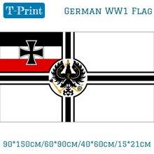 Free shipping 90*150cm/60*90cm/40*60cm/15*21cm German Deutsch Reich Imperial Germany WW1 Historical Naval Flag 3X5FT u s ww1 m1917 helmet zc49 with ww1 usmc badge gray