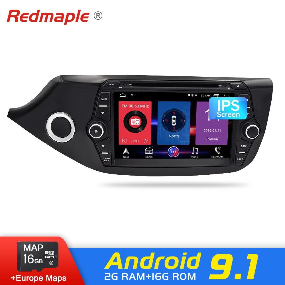 Android 9.1/9.0 Car Radio Navegação GPS Multimedia DVD Player Para Kia Ceed 2012 2013 2014 2015 2016 Auto RDS áudio Estéreo WI-FI