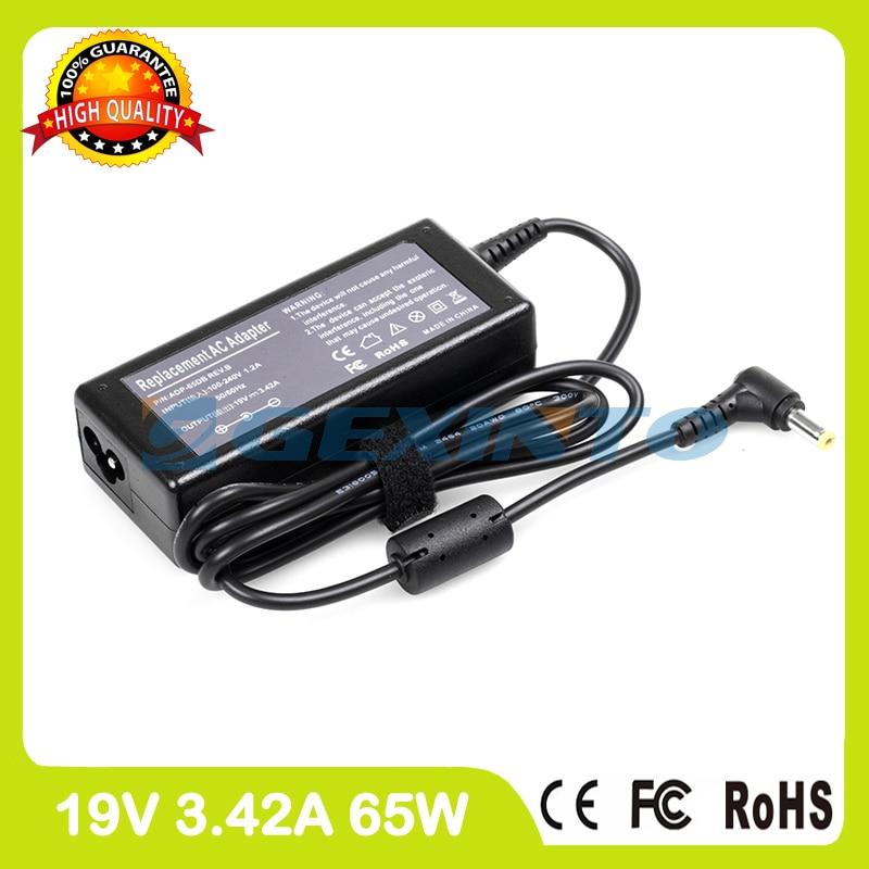 19V 3.42A 65W Laptop Charger Ac Adapter AP.0650A.001 AP.06506.004 For Acer Aspire V3-472PG V3-531 V3-531G V3-551 V3-551G V3-571