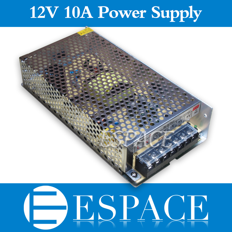 10piece/lot 12V 10A 120W Switching Power Supply Driver for LED Strip AC 100-240V Input to DC 12V free DHL зажигалка zippo diamond plate satin chrome латунь с ник хром покрыт сереб матовая 36х56х12мм