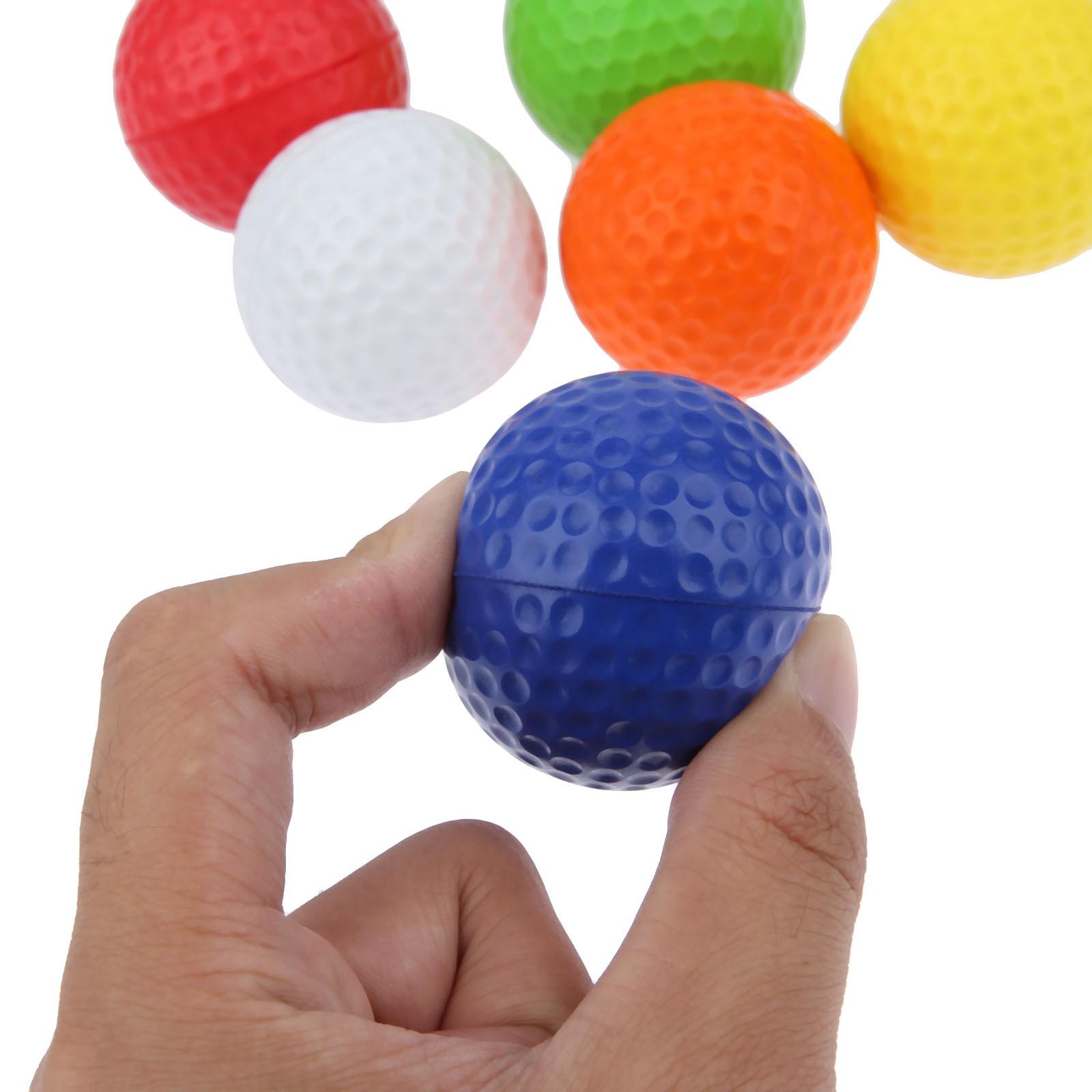 SURIEEN 20Pcs Light Foam Golf Balls for Indoor Outdoor Golf Practice Balls PU Material Sport Training Sponge Golf Balls 6 Colors
