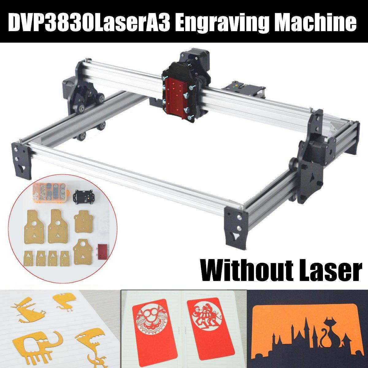 MiniUSB DVP 3830 Laser A3 Desktop USB CNC Laser Engraving Engraver Cutting Machine Without Laser Head Wooding Tools