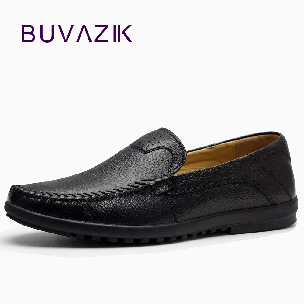 BUVAZIK 2018 Men casual  soft leather shoes brand comfortable mens loafers genuine leather moccasins slip-on male shoes fashion brand genuine leather shoes for women casual mother loafers soft and comfortable oxfords lace up non slip flat moccasins