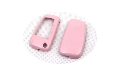 Жесткий пластиковый БЕСКЛЮЧЕВОЙ дистанционный ключ защитный кожух(глянцевый розовый) для Audi