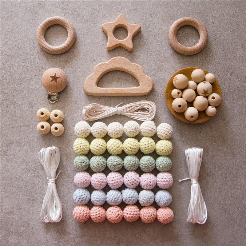 madeira do bebe mordedor beads diy joias 02