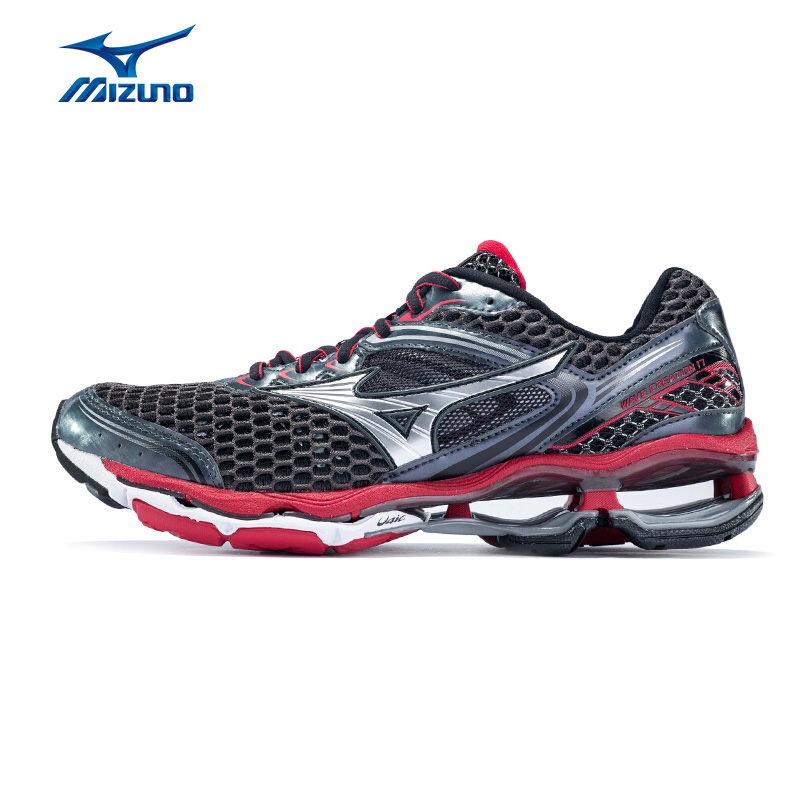 MIZUNO Men WAVE CREATION 17 Professional Running Shoes Breathable Cushion Sports Shoes Sneakers J1GC151803 XYP595 mizuno men rebula v3 ag professional cushion soccer shoes sports shoes comfort wide sneakers p1ga178603 yxz069