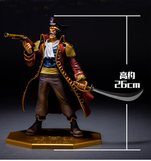 Tobyfancy One Piece Gol D Roger POP DX PVC Action Figure Onepiece Collection Model Toy Gifts 26CM