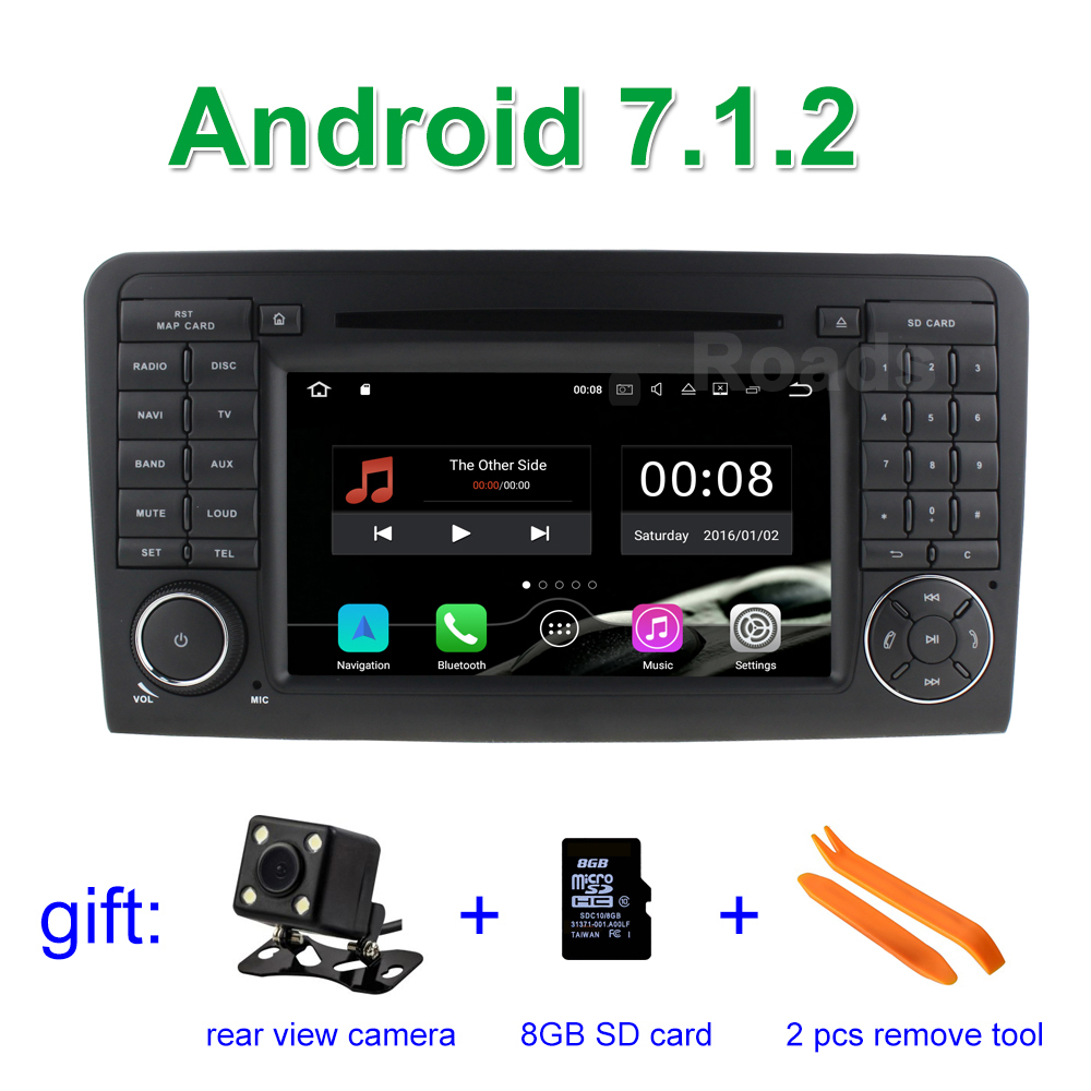 Android 7 1 2 car dvd player for mercedes benz ml gl class for Mercedes benz dvd player