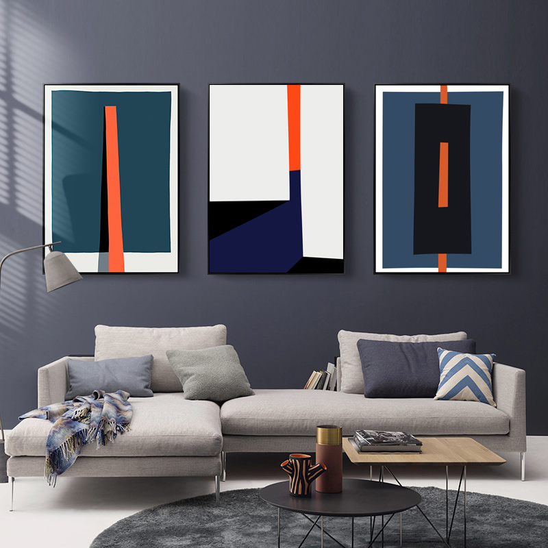 Modern Abstract Geometric Colorful Prints Poster Nordic Canvas Paintings