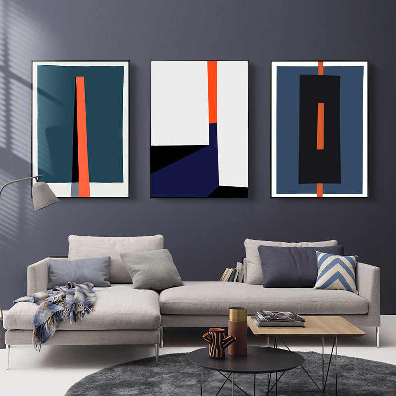 Modern Abstract Geometric Colorful Prints Poster Nordic Canvas Paintings POP Wall Art Pictures Living Room Office Home Decor