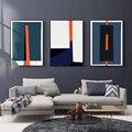 Современные абстрактные геометрические цветные принты постер скандинавские картины на холсте настенные картины для гостиной офиса домашн...