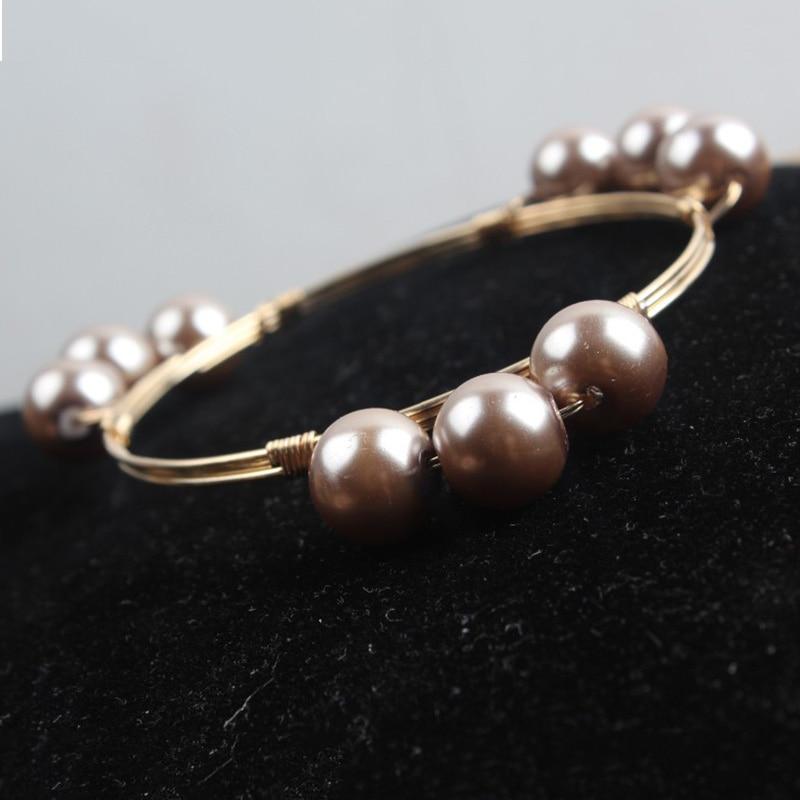 New 3 Mental Ball Bracelet&Bangle For Women Bohemian National Women Handmade Bracelet Jewelry  H176