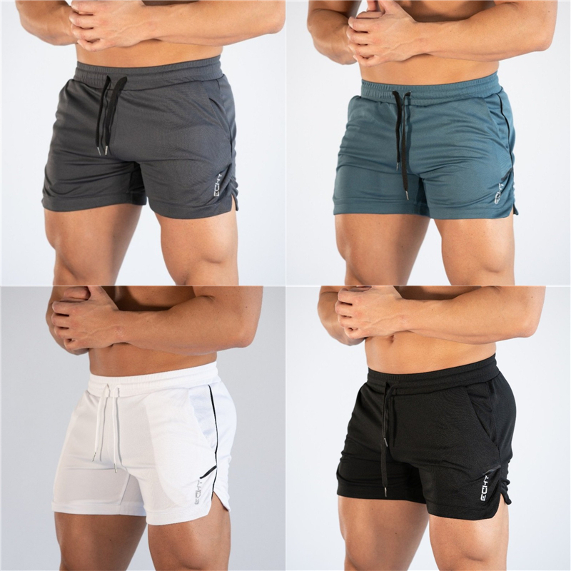 2019 Summer Mens Shorts Jogger Fitness Fashion Casual Gyms Joggers Workout Bodybuilding Breathable Quick-drying Beach Shorts