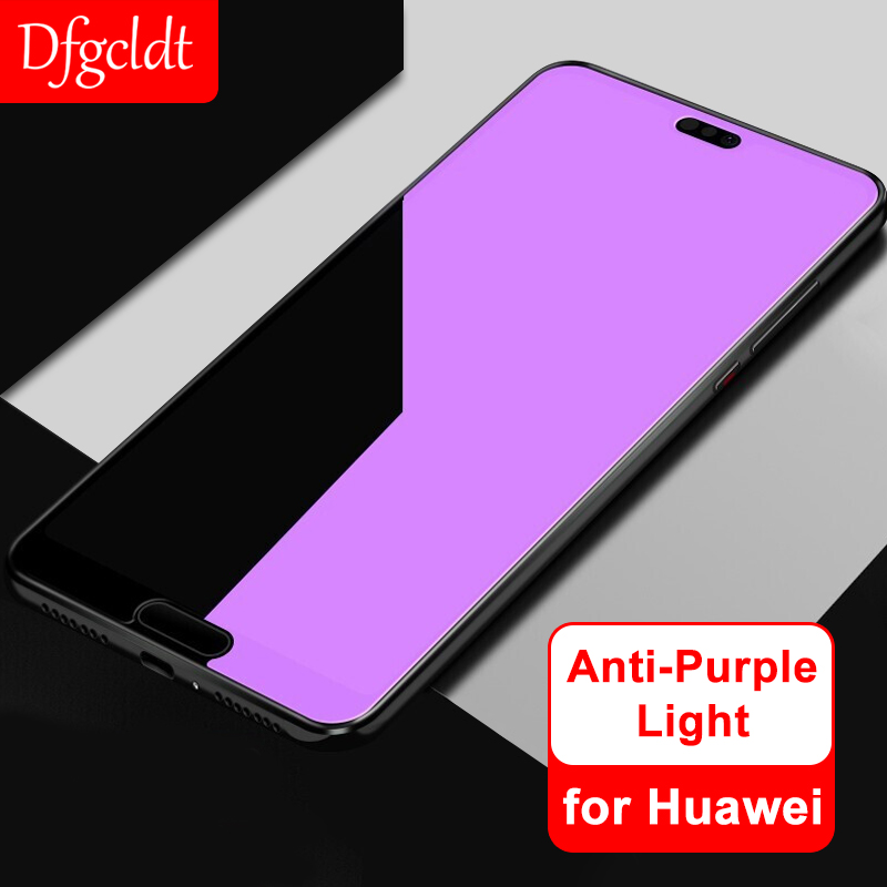 9H Hard Anti Purple Tempered Glass For Huawei Honor 9 Youth P20 Mate 10 Pro 20X Lite Nova 3 3i Enjoy 8e Magic 2 Screen Protector