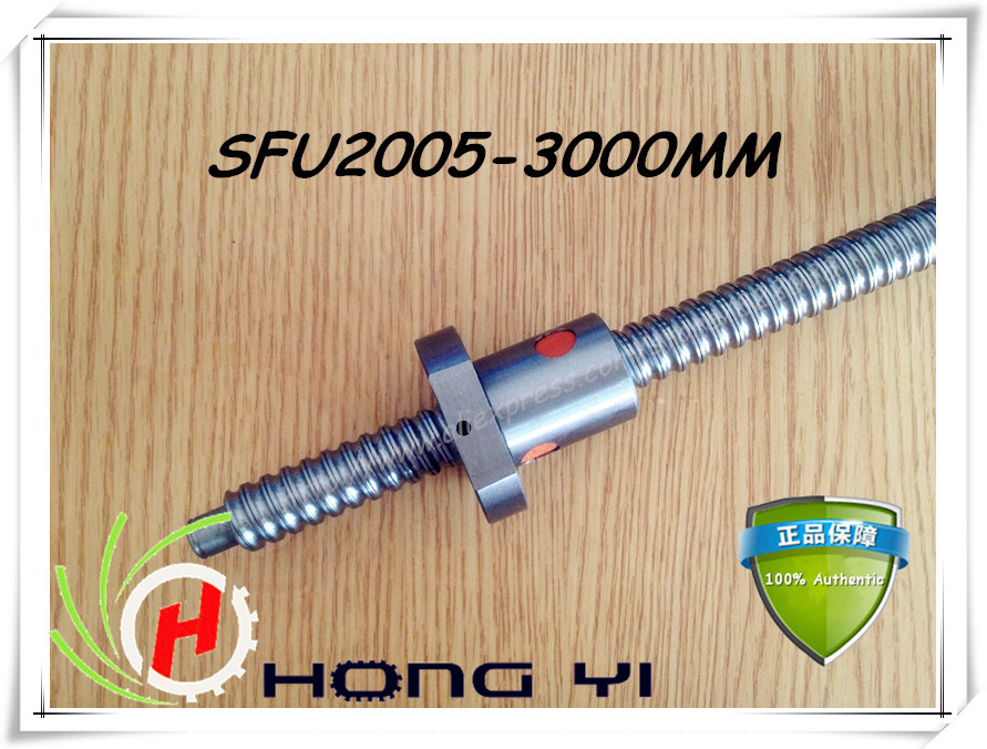 Ball screws 2005 -L3000mm + 1pcs SFU2005 single ballnut + end machining is optional for CNC Linear Working Table niko 50pcs chrome single coil pickup screws