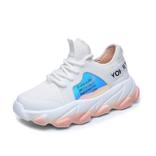 Daddy Shoes Womens Shoes Summer New Breathable Lace Up Platform Sneakers Women Running Shoes Women Shoes Woman Zapatos De Mujer 2019 summer new fashion running shoes flying woven socks women sneakers soft breathable lace up shoes ladies white shoes woman