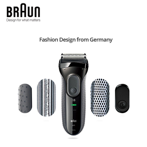 Image 2 - Braun Series 3 3000S Mens Electric Razor 3 Independently Floating Shaving Elevments Dry & Wet Electric Shaver