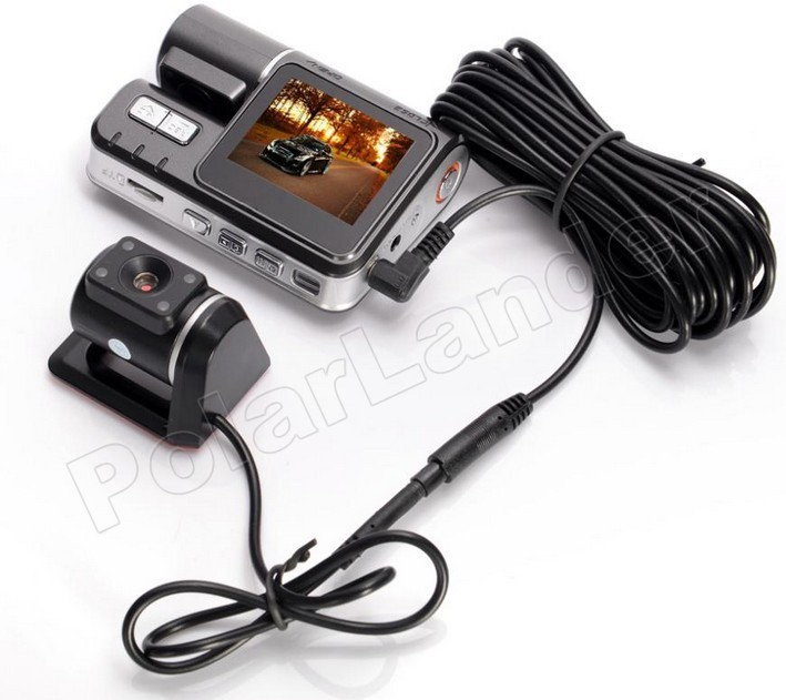2 Inch Car DVR I1000 HD Camera Video Recorder with rear camera night vision Car camcorders 170 degree wide viewing angle