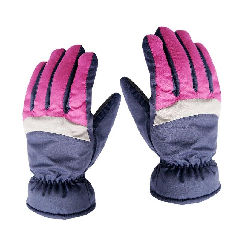 2018 Winter Waterproof Men Women\'s Winter Windproof Ski Gloves Warm Non-slip Full Finger Skating Skiing Gloves Cotton Gloves