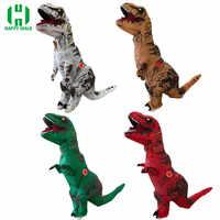 Opblaasbare Dinosaurus Kostuum Fantasia Adulto Halloween Cosplay Dinosaurus Kostuums Voor Volwassen Disfraces Adultos T-REX Fan Operated