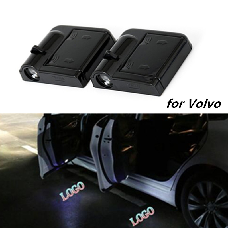 2PC Car LED Door Warning Light Welcome Door Logo Projector light For <font><b>VOLVO</b></font> S80 S60 S80L S60L V60 V40 <font><b>XC60</b></font> XC90 Car <font><b>Accessories</b></font> image