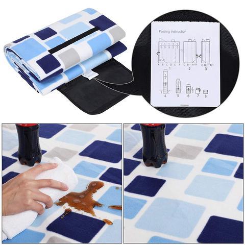piquenique cobertor 200x200 cm tamanho xxl flanela calor isolamento a prova d agua com alca