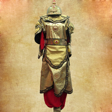 China Ancient Warriors helmet armor Female General Hua Mulan Armour costume in film television Outfit performance costumes