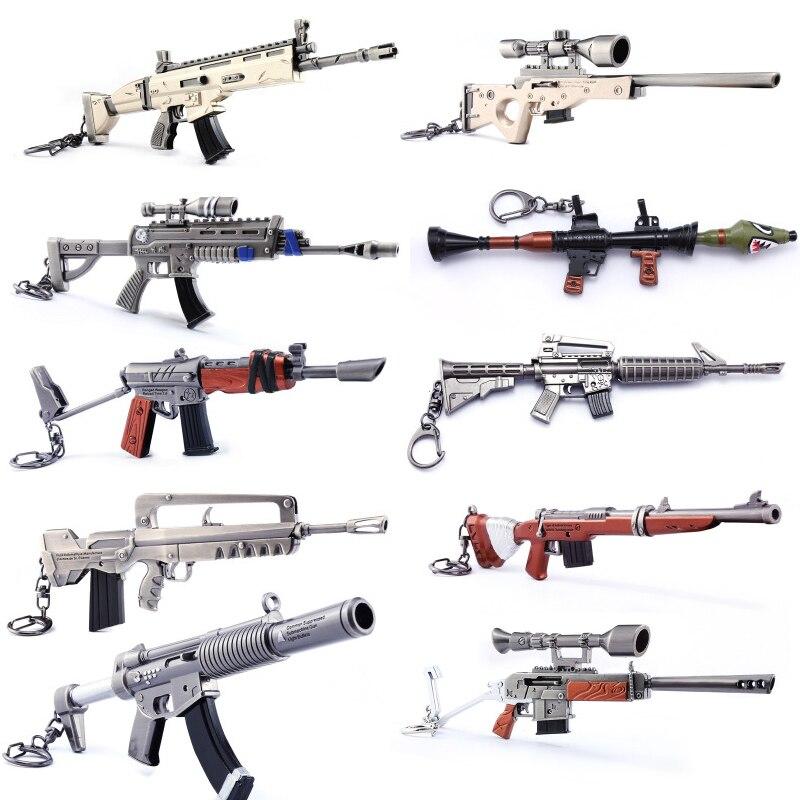 Quindici giorni Portachiavi Action Figure Fucile Arma Modello di Pistola Armi Da Fuoco Kids Collezione Giocattolo Fort Notte Nite Battle Royale Dropshipping