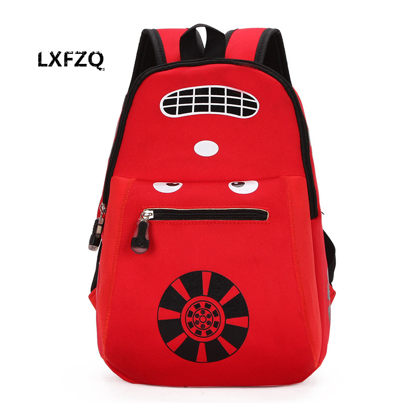 3D Car school bags nylon children's backpacks
