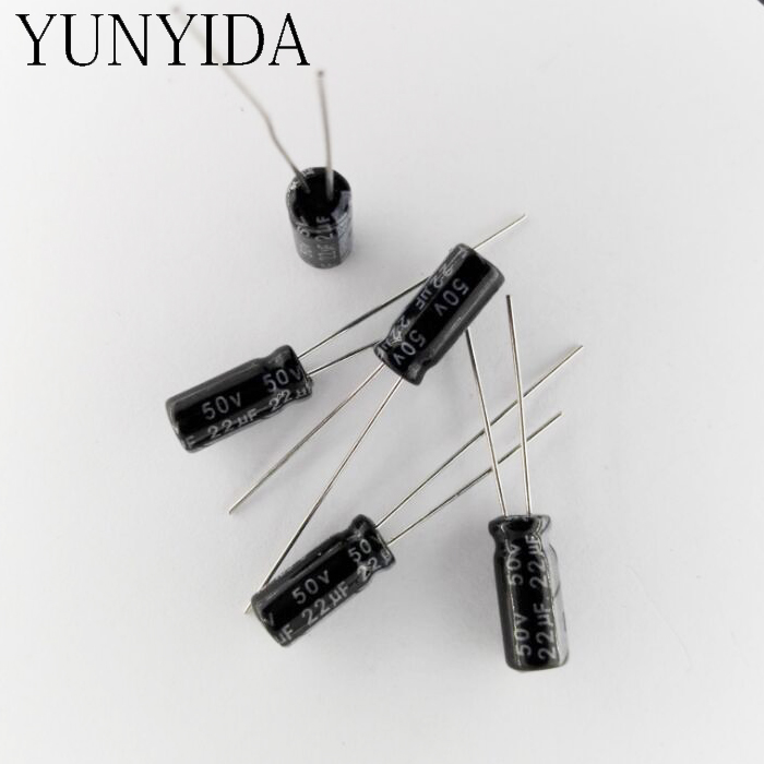 50pcslot Electrolytic Capacitor 50v 22uf Free Shipping A318