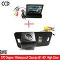 CCD HD Aparcamiento Con 4.3 pulgadas de Coches Retrovisor Monitor, LED Cámara de Visión Trasera Para BMW 1357 serie X3 X5 X6 Z4 E39 E46 E53