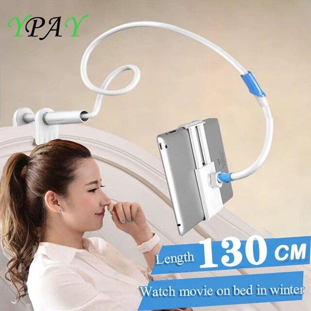 Длинная регулируемая подставка держатель YPAY 1,3 м для планшета и телефона 4 10,5 дюйма, кронштейн для крепления планшета для ленивой кровати для iPhone X 8 IPad pro 10,5