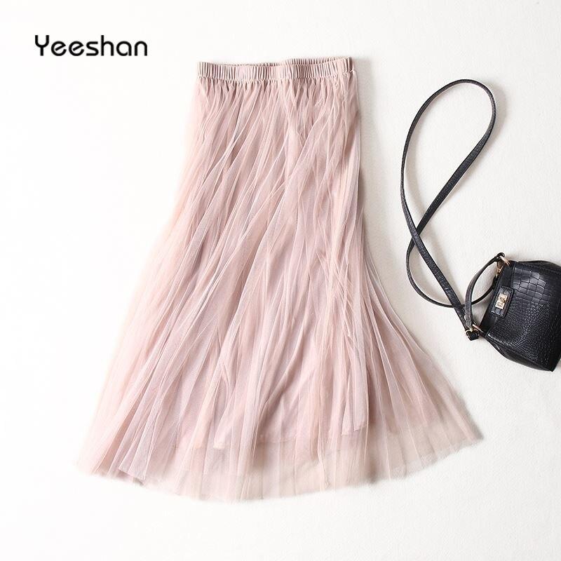 Pantalon nyári stílusú tüll szoknya rózsaszín rózsaszín - Női ruházat